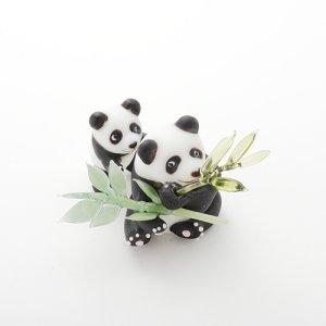 画像1: 新井克仁 「親子パンダ」