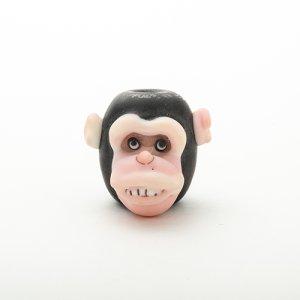 画像1: 新井克仁「チンパンジー とんぼ玉」