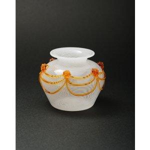 画像1: Cesare Toffolo 「Small glass white filigree vase」