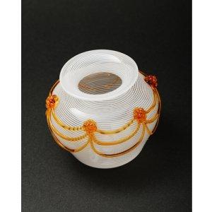 画像2: Cesare Toffolo 「Small glass white filigree vase」