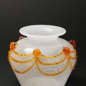 画像3: Cesare Toffolo 「Small glass white filigree vase」