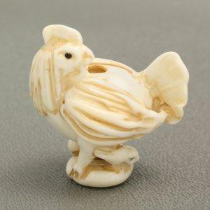 画像1: ローレン・スタンプ Cock Ojime (鶏緒締め)
